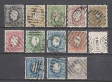 Portugal 1870/1880 - Louis I. Small lot of stamps.
