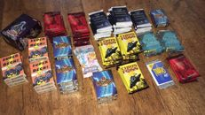 Lot 153 sealed booster packs, decks trading card's