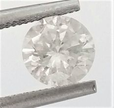 Round Brilliant Cut  - 1.05 carat - H color - SI3 clarity- Comes With AIG Certificate + Laser Inscription On Girdle