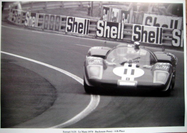 Le Mans 1970 - Ferrari 512S #11 - Bucknum/Possey - 4th Place - Limited 50 pcs.
