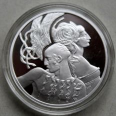 Niue - 1 dollar 2010 'Famous Love Stories' - Samson and Delilah' with certificate - silver