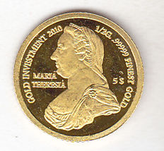 "Solomon Islands - 5 Dollars 2010 ""Maria Theresia"" - gold"