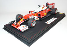 BBR - Scale 1/18 - Ferrari F1 2016, SF-16H Sebastian Vettel, including Display Case