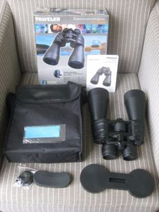Powerful black coloured binoculars TRAVELER 10 - 30 x 60.