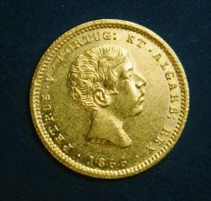 Portugal – 1.000 Reis in Gold – 1855 – D. Pedro V – Lisbon – New