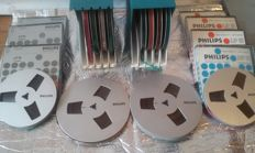 19 metallic reels + tape (18 cm)