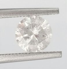 Round Brilliant Cut  - 1.00 carat - F color - SI3 clarity- Comes With AIG Certificate + Laser Inscription On Girdle