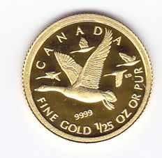 Canada – 50 Cents 2011 'Geese' – 1/25 oz gold