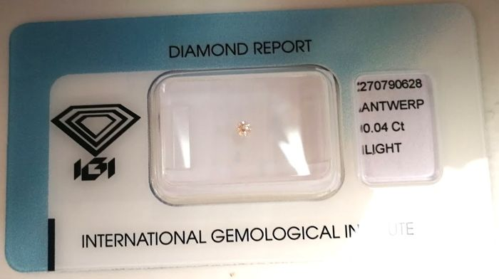 Natural Light Brownish Pink Diamond 0.04 ct  with IGI cert *** no minimum price***