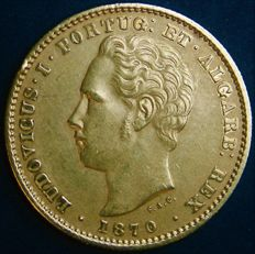 Portugal – 5.000 Reis in Gold – 1870 – D. Luís I – Lisbon – New