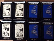 Zippo 8 lighters type Planeta 4 x millenium and 4 x comic strip 2.