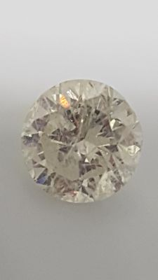 2.02 ct - Round Brilliant - White - G / SI2