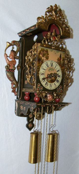 Chair clock of Dutch make - FHS movement 1974
