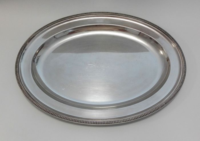 Large silver plated oval dish - England, MAPPIN & WEBB' S PRINCE' S PLATE LONDON & SHEFFIELD