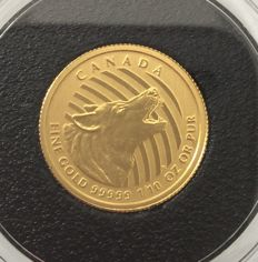Canada – 20 Dollars 2015 'Howling Wolves' in coin card – 1/10 oz Gold