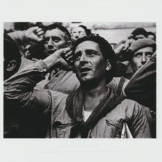 Robert Capa (1913-1954) - Magnum Photos, Farewll Ceremony International Brigades , Near Barcelona - 1938