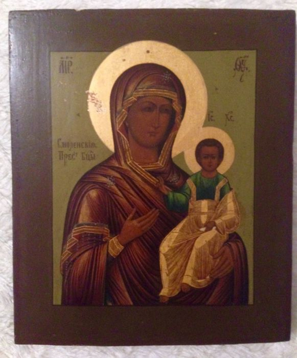 "Russian Icon ""Mother of God of Smolensk"" - 19th century"