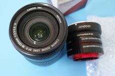 Canon stabilised Zoom Ef-s 18/135 f 3.5/ 5.6 + auto-focus adapter ef/nex with Macro rings for Sony E