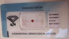 Natural Fancy Deep Brown Pink Diamond 0.10ct  with IGI cert *** no minimum price***