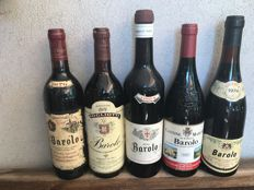 Various bottles of Barolo doc - Piedmont - Italy