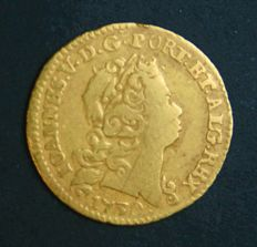 Portugal – ½ Escudo in Gold – 1730 – D. João V – Lisbon