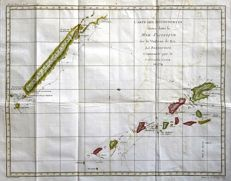 South Pacific, New Caledonia & New Hebrides; Bellin - Carte des Decouvertes faites dans la Mer Pacifique, Captaine Cook - 1774