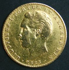 Portugal – 2.000 Reis in Gold – 1865 – D. Luís I – Lisbon
