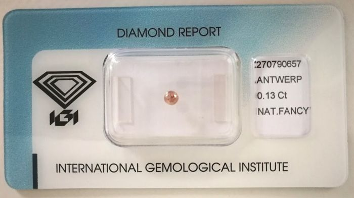 Natural Fancy Deep Brown Pink Diamond 0.13 ct  with IGI cert *** no minimum price***