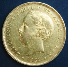 Portugal – 5,000 Réis in gold – 1862 – Luís I – Lisbon – Extremely Fine