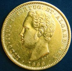 Portugal – 5.000 Reis in Gold – 1868 – D. Luís I – Lisbon – New