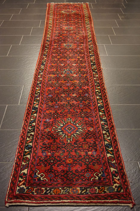 Old high quality - Persian carpet - Hamadan - Made in Iran - 80 x 400 cm - Very good condition
