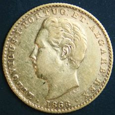 Portugal – 2.000 Reis in Gold – 1868 – D. Luís I – Lisbon