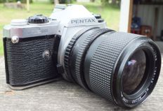 SLR camera PENTAX ME Super from 1979 with EXAKTA 35 - 70 mm Zoom lens