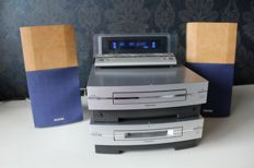 Pioneer XC-L77 - Stereo amplifier / CD / Tuner player in one + MJ-L77 MiniDisc player/recorder including manuals