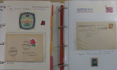 Ship's post – Collection in 9 folders and 2 ringbinders, with submarines, amongst others