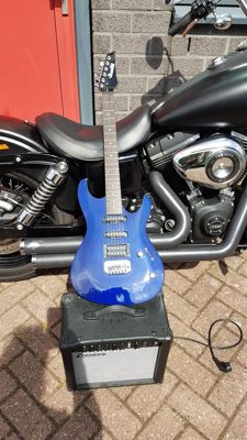 Ibanez Gio GSA 60 with 15 watt Ibanez Amp GTR 15 R with Reverb
