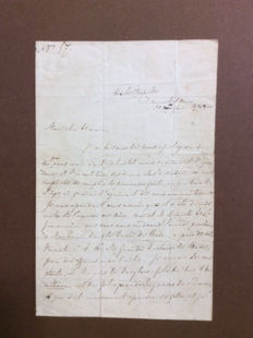 Letter from the great-nephew of Napoleon, William Charles Bonaparte-Wyse, dated 1842