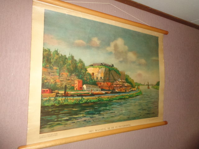 "Old school poster ""The Meuse Valley at St Pietersberg"""