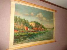 """Old school poster """"The Meuse Valley at St Pietersberg"""""""