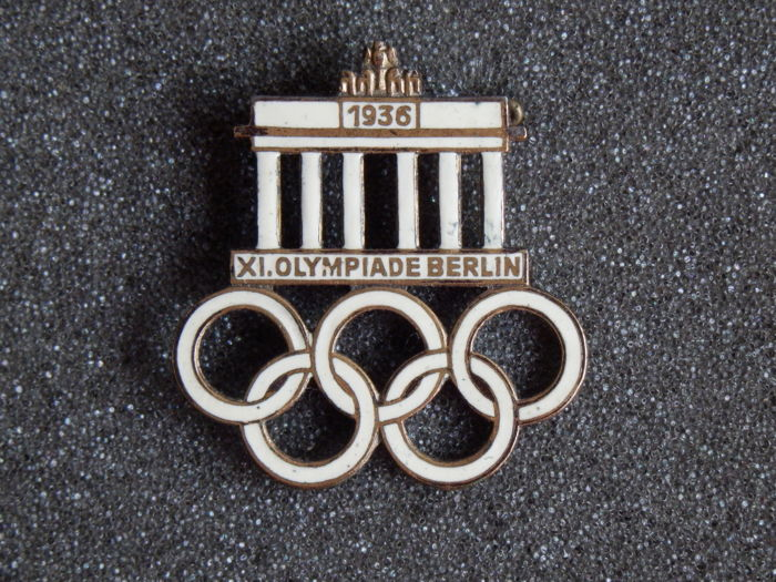 Rare brooch - Pin of the 11th summer Olympics in Berlin from 1936