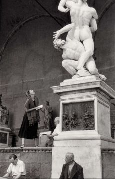 Ruth Orkin (1921-1985) - Staring at Statue - Florence - Italy - 1951