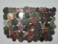 Spain - Lot of 80 coins - XV to XIX centuries - The Catholic Monarchs, Habsburgs, Maravedis, etc..