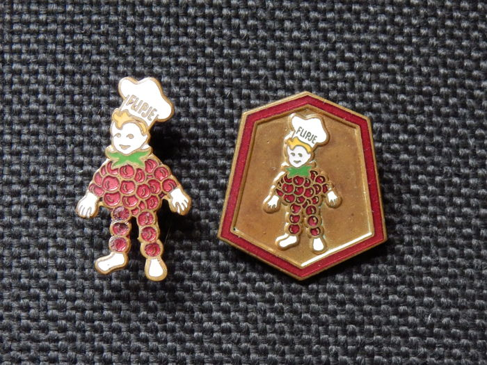 2 Rare Enamel Brooches - Pins of the Flipje Tiel
