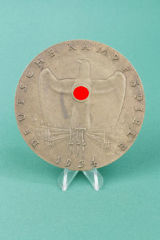 Medal German Camp Games 1934, German Reich, III. winner, 2nd place, bronze. (8)