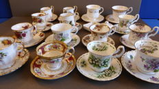 Royal Albert cups and saucers.