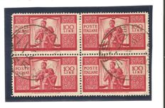 "Italy, 1946 - ""Democratic"" in four-block, complete series"