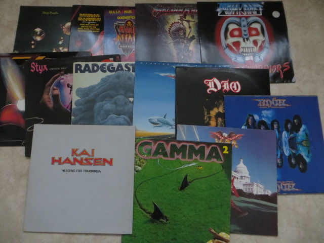 Famous Hard Rock / Metal  Various Artists - lot of fourteen  (14) LP's