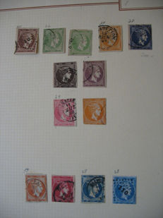 Greece - collection with 13 big Hermes heads, many small Hermes heads and a collection of Lichtenstein