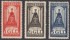 The Netherlands 1923 - Wilhelmina Jubilee – NVPH 129, 130, 131