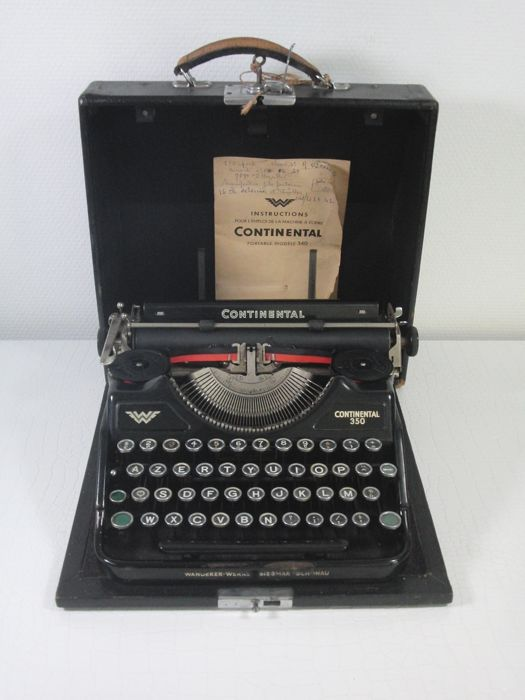 Antique typewriter - Continental 350 - 1940s